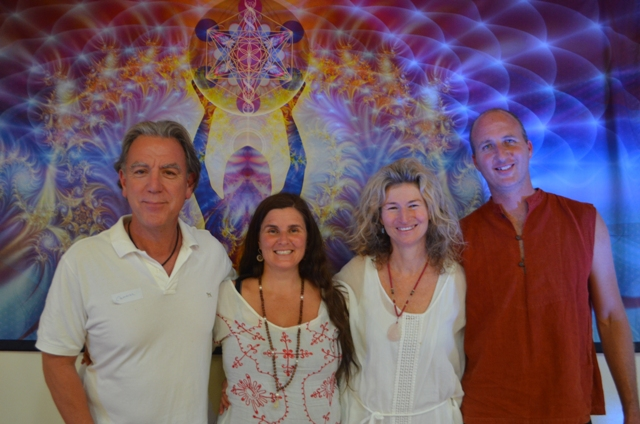 Cameron Monley and Lyza Saint Ambrosena with Prem and Jethro from Sacred Earth Music at The Infinite Connection