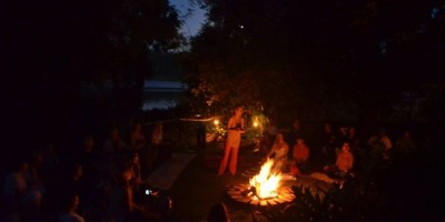firepit meditation with the infinite connection