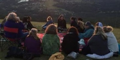 sacred woman circle with Lyza saint ambrosena