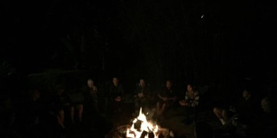 firepit and sausage sizzle with the infinite connection