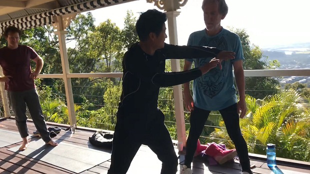 master yang with Cameron Monley