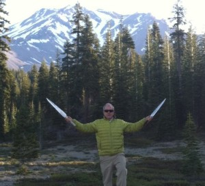 Tom Ledder on Mt shasta