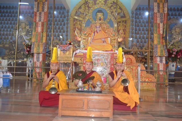 ganden jangtse monks of tibet  with Dalia Lama
