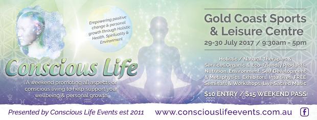 conscious life expo banner